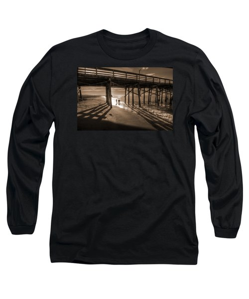 Balboa Pier Fishermen Long Sleeve T-Shirt