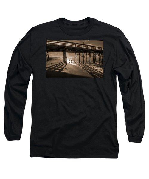 Balboa Pier Fishermen Long Sleeve T-Shirt