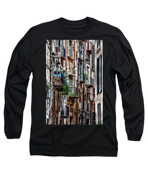 Balconies Of Palermo Long Sleeve T-Shirt by Patrick Boening