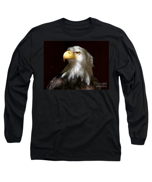 Bald Eagle Closeup Portrait Long Sleeve T-Shirt