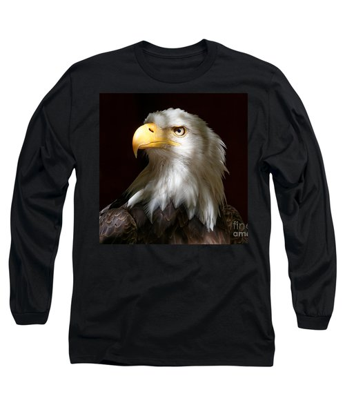 Bald Eagle Closeup Portrait Long Sleeve T-Shirt