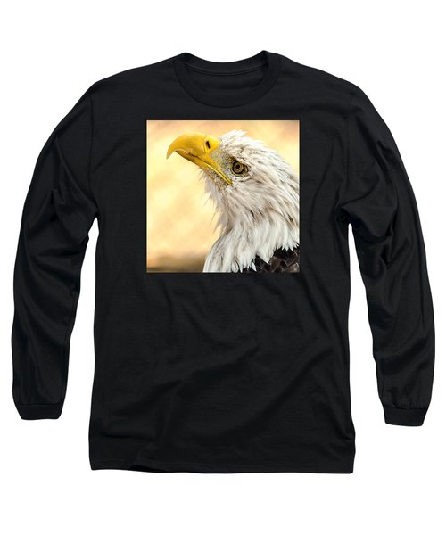 Long Sleeve T-Shirt featuring the photograph Bald Eagle Portrait by Yeates Photography