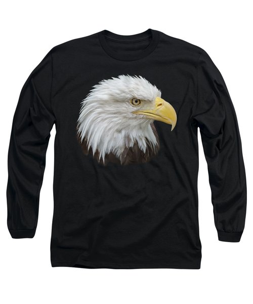 Long Sleeve T-Shirt featuring the photograph Bald Eagle Profile by Ernie Echols