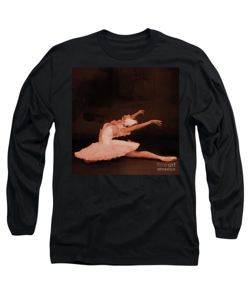 Ballet Dancer In White 01 Long Sleeve T-Shirt