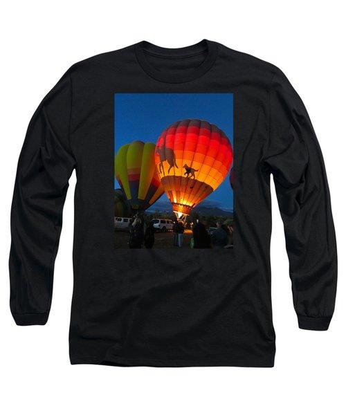 Long Sleeve T-Shirt featuring the photograph Balloon Glow by Brenda Pressnall