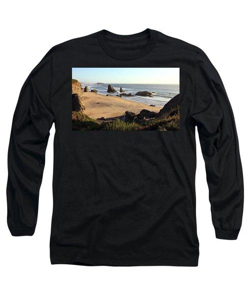 Bandon Beachfront Long Sleeve T-Shirt by Athena Mckinzie