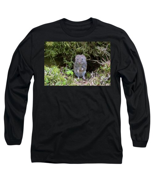 Long Sleeve T-Shirt featuring the photograph Bank Vole - Scottish Highlands by Karen Van Der Zijden
