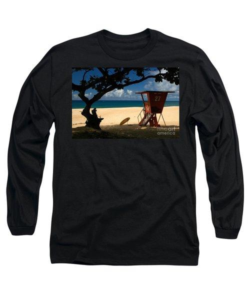 Banzai Beach Long Sleeve T-Shirt by Mark Gilman