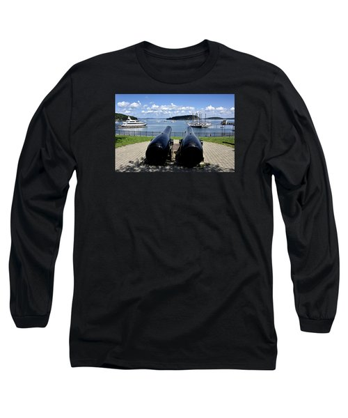 Bar Harbor - Maine - Canons At Agamont Park Long Sleeve T-Shirt by Brendan Reals