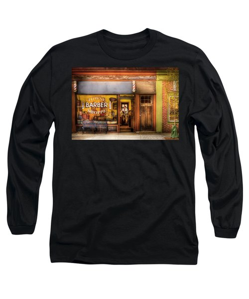 Barber - Towne Barber Shop Long Sleeve T-Shirt