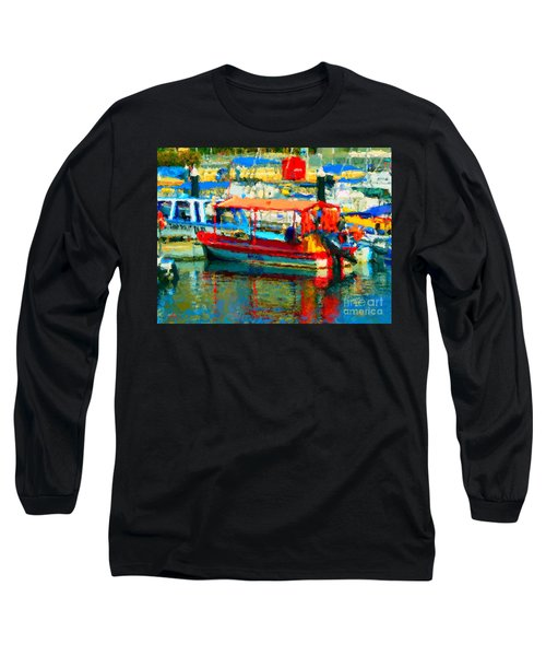 Barco En Cabo Marina Long Sleeve T-Shirt by Gerhardt Isringhaus