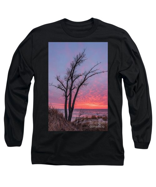 Bare Trees Overlooking A Beautiful Sunset Long Sleeve T-Shirt