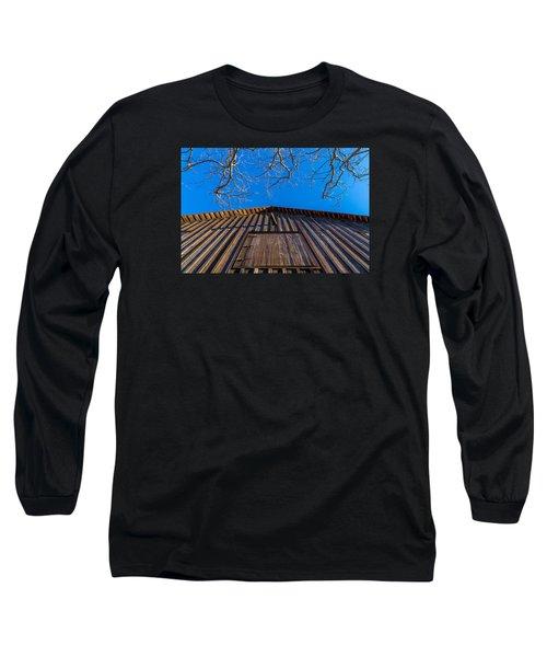Barn And Trees Long Sleeve T-Shirt by Derek Dean