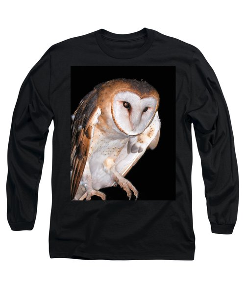 Barn Owl Long Sleeve T-Shirt by Jean Noren