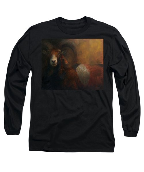 Baroque Mouflon Portrait Long Sleeve T-Shirt