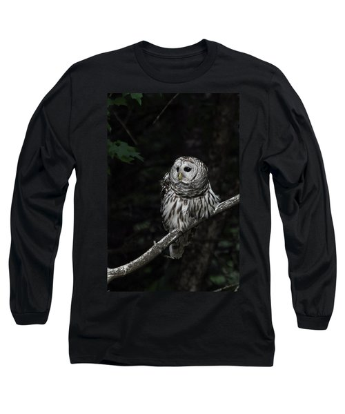 Long Sleeve T-Shirt featuring the photograph Barred Owl 2 by Glenn Gordon
