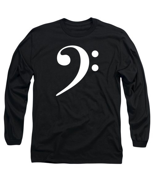 Baseline Beat Bass Clef Music Symbol Long Sleeve T-Shirt
