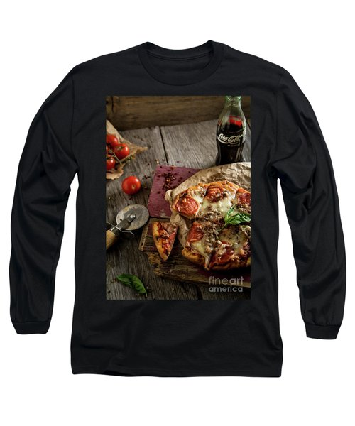 Basil And Mozzarella  Long Sleeve T-Shirt by Deborah Klubertanz
