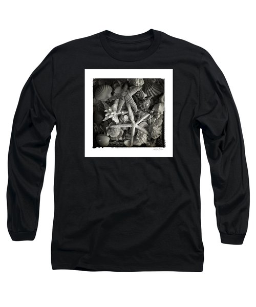 Long Sleeve T-Shirt featuring the photograph Basket Of Shells by Linda Olsen