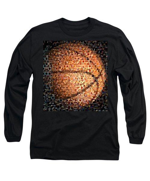 Basketball Mosaic Long Sleeve T-Shirt