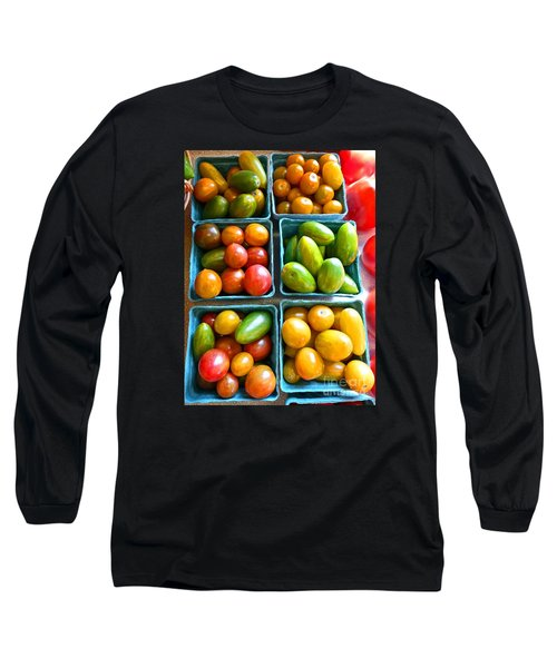 Baskets Of Baby Tomatoes Long Sleeve T-Shirt by Dee Flouton