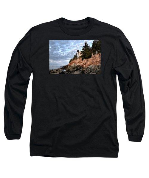 Bass Harbor Light No. 1 - Maine - Acadia Long Sleeve T-Shirt