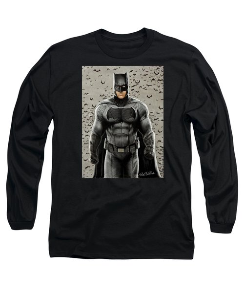 Batman Ben Affleck Long Sleeve T-Shirt by David Dias