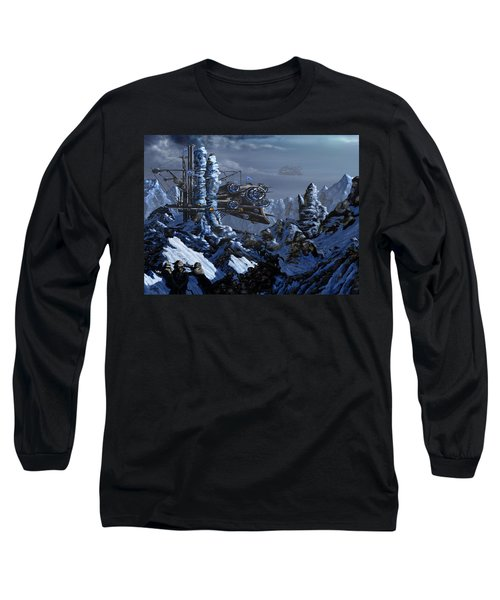 Long Sleeve T-Shirt featuring the digital art Battle Of Eagle's Peak by Curtiss Shaffer