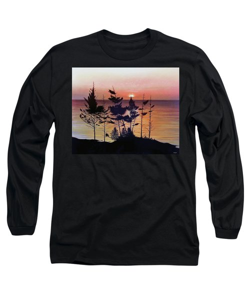 Bay Of Fundy Sunset Long Sleeve T-Shirt