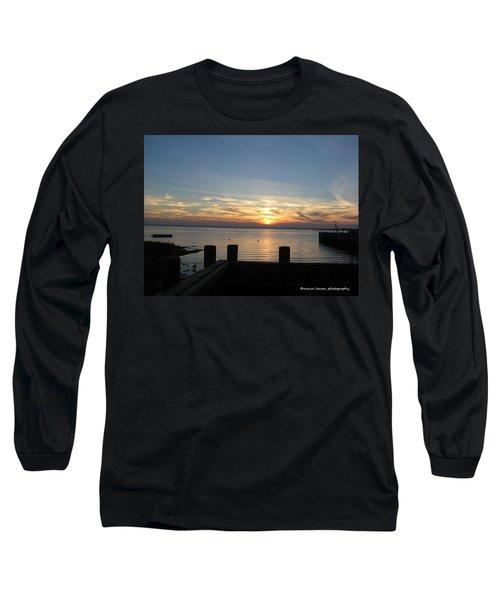 Bay Sunset Long Sleeve T-Shirt by Nance Larson