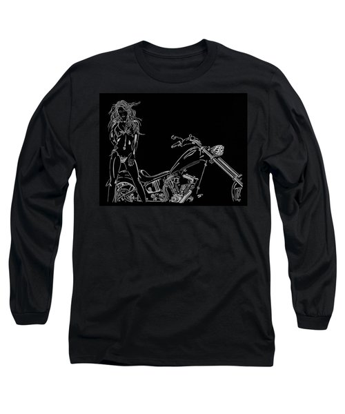 Long Sleeve T-Shirt featuring the drawing Bb Four by Mayhem Mediums