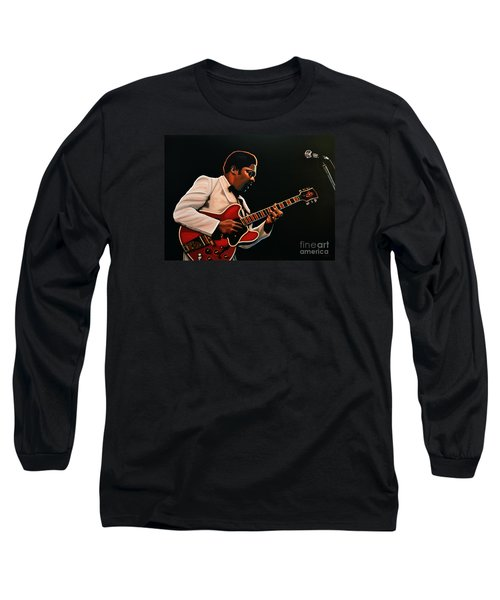 B. B. King Long Sleeve T-Shirt by Paul Meijering