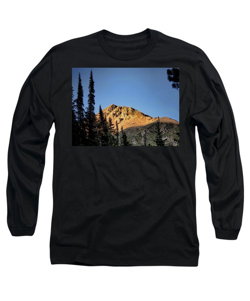 Long Sleeve T-Shirt featuring the photograph Be Still Like A Mountain ... by Jim Hill