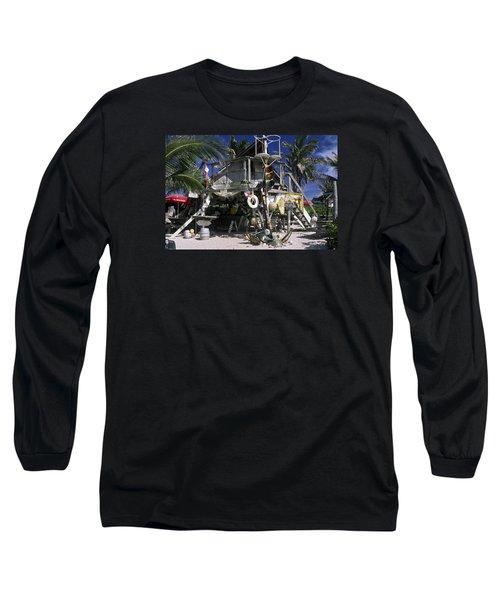 Beach Bar Long Sleeve T-Shirt by Sally Weigand
