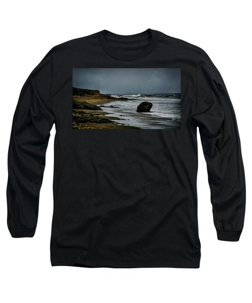 Long Sleeve T-Shirt featuring the photograph Beach Boulder by Joseph Hollingsworth