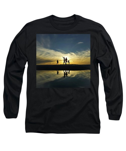 Beach Dancing At Sunset Long Sleeve T-Shirt