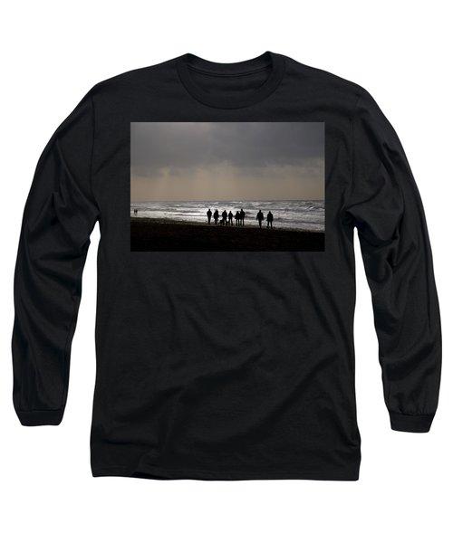 Beach Day Silhouette Long Sleeve T-Shirt