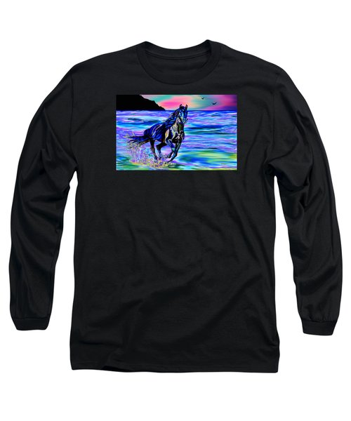 Beach Horse Long Sleeve T-Shirt