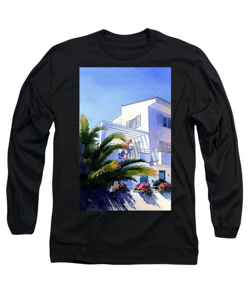 Beach House At Figueres Long Sleeve T-Shirt