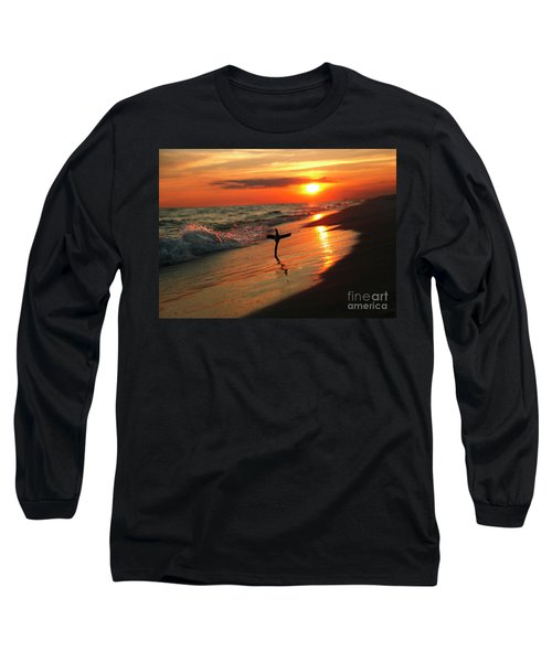 Beach Sunset And Cross Long Sleeve T-Shirt