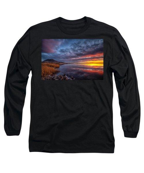 Bear Butte Lake Sunrise Long Sleeve T-Shirt