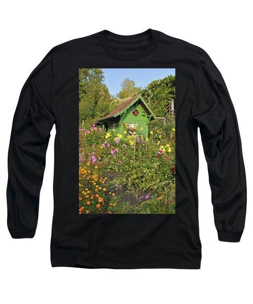 Beautiful Colorful Flower Garden Long Sleeve T-Shirt