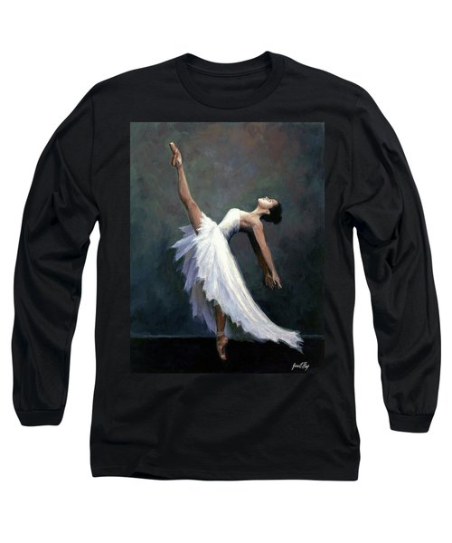 Long Sleeve T-Shirt featuring the painting Beautiful Dancer by Janet King
