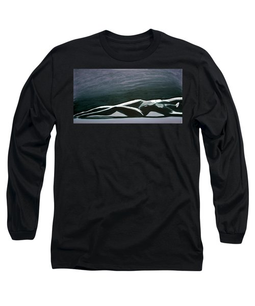 Long Sleeve T-Shirt featuring the painting Beautiful Diver by Jarmo Korhonen aka Jarko