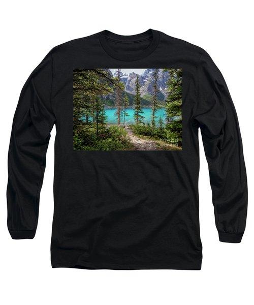 Beautiful Lake Moraine Long Sleeve T-Shirt by Patricia Hofmeester