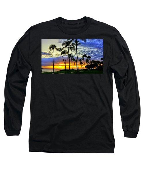 Beautiful Maui Hawaii Sunset Long Sleeve T-Shirt