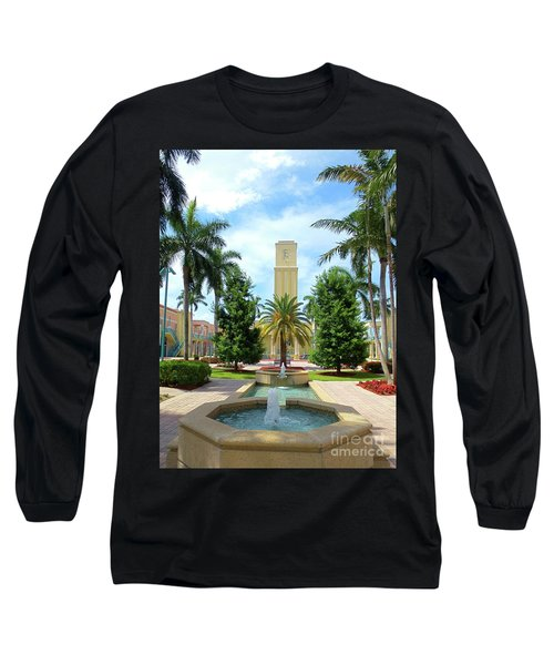 Beautiful Mizner Park In Boca Raton, Florida. #6  Long Sleeve T-Shirt