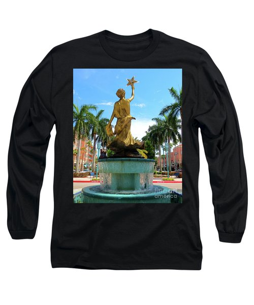 Beautiful Mizner Park In Boca Raton, Florida. Long Sleeve T-Shirt