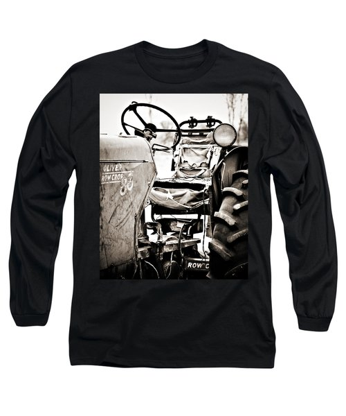 Beautiful Oliver Row Crop Old Tractor Long Sleeve T-Shirt by Marilyn Hunt