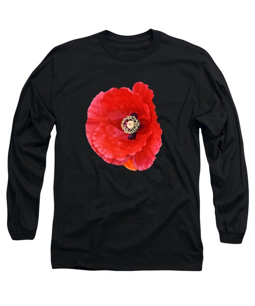 Beautiful Red Poppy Papaver Rhoeas Long Sleeve T-Shirt
